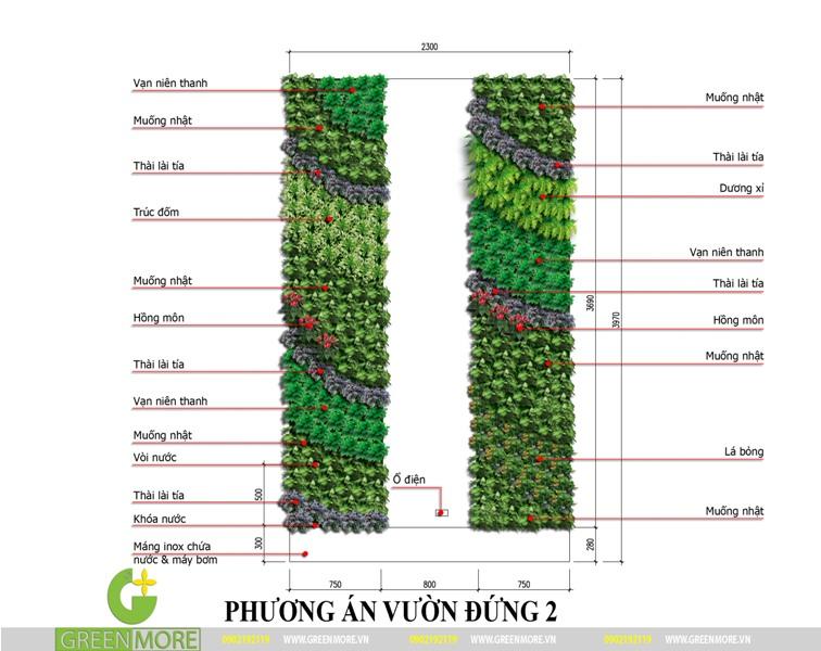 Phương án thiết kế vườn đứng tại ban công