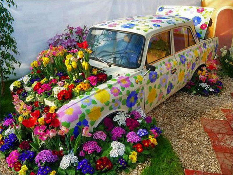 Flowers Garden Use Colors Decoration Display Car Wallpaper Flower Bouquet