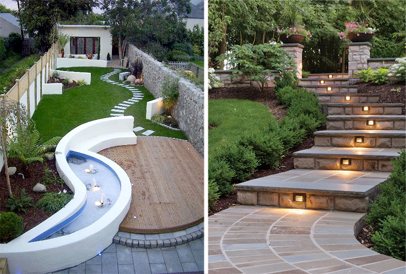 Thiết kế sân vườn với lối đi đẹp - hợp phong thủy.