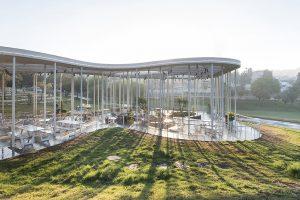 Công trình kiến trúc xanh quán Cafe tại Sacher Park Israel