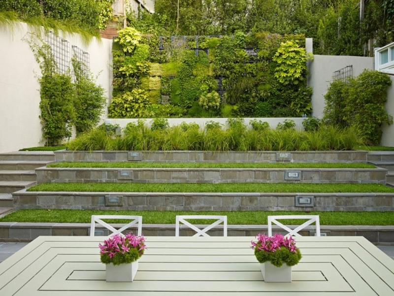 Mur Végétalisé Extérieur Unique sloping garden ? design idea