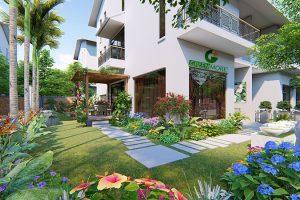 Thiết kế sân vườn anh Bình khu đô thị Ecopark