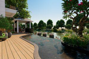 Thiết kế sân vườn khu đô thị Vinhomes The Harmony
