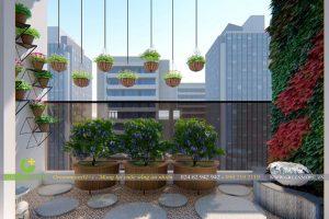 Cải tạo tường và trần – Vườn ban công chung cư