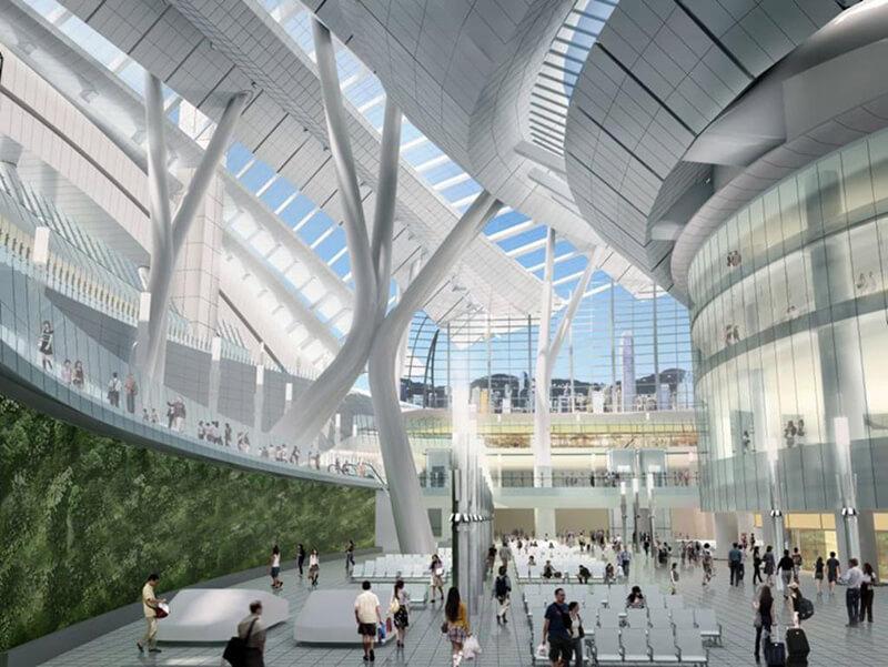 Thiết kế kiến trúc bên trong nhà ga