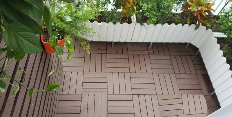 Lát vỉ sàn gỗ nhựa