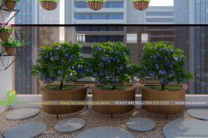 Cải tạo sàn, lan can – Vườn ban công chung cư