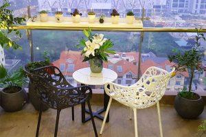 Không gian thư giãn cho vườn ban công chung cư
