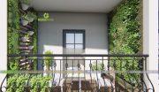 4+ Mẫu thiết kế vườn ban công chung cư tuyệt đẹp