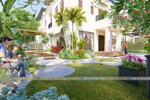 Thiết kế sân vườn biệt thự khu đô thị Splendora