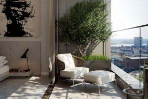 9 mẫu trang trí ban công đơn giản với bàn ghế nhỏ
