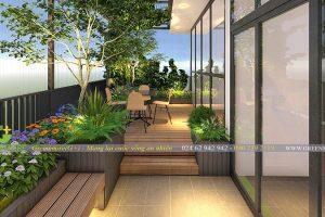 Thi công vườn ban công căn Penthouse tại The Zen Residence Gamuda