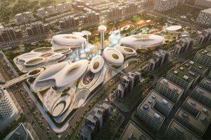 Cảnh quan trung tâm giải trí Central Hub ở Sharjah UAE