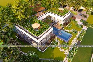 Thiết kế biệt thự sân vườn cho nhà 1 tầng cực chất