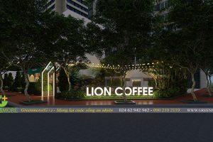 Thiết kế sân vườn quán cafe chú Văn – KĐT Linh Đàm